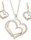 ราคาถูก นาฬิกาดิจิตอลสตรี-สำหรับผู้หญิง Drop Earrings สร้อยคอจี้ สองชั้น Heart หัวใจกลวง เกี่ยวกับยุโรป หวาน แฟชั่น ไข่มุกเทียม พลอยเทียม ต่างหู เครื่องประดับ สีทอง / สีเงิน สำหรับ ปาร์ตี้ ฮอลิเดย์ เทศกาล 3 ชิ้น