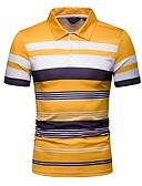 Χαμηλού Κόστους Αντρικά Πόλο-Ανδρικά Polo Συνδυασμός Χρωμάτων Κολάρο Πουκαμίσου Κίτρινο