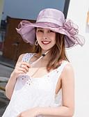 ราคาถูก หมวกสตรี-สำหรับผู้หญิง สีพื้น ลายดอกไม้ ตารางไขว้ ซึ่งทำงานอยู่ พื้นฐาน สไตล์น่ารัก-หมวกบัคเก็ต ฤดูใบไม้ผลิ ฤดูร้อน สีเทา สีม่วง ไวน์