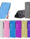 ราคาถูก เคสสำหรับโทรศัพท์มือถือ-Case สำหรับ Huawei Huawei P20 / Huawei P20 Pro / Huawei P20 lite with Stand / Plating / Mirror ตัวกระเป๋าเต็ม สีพื้น Hard พีซี