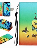 ราคาถูก เคสสำหรับโทรศัพท์มือถือ-Case สำหรับ Huawei Huawei P20 / Huawei P20 Pro / Huawei P20 lite Card Holder / with Stand / Flip ตัวกระเป๋าเต็ม Butterfly / การ์ตูน Hard หนัง PU / P10 Lite / P10