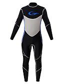 ราคาถูก ชุดดำน้ำ-YON SUB สำหรับผู้ชาย Wetsuits เต็ม 3mm CR Neoprene ชุดดำน้ำ รักษาให้อุ่น ซิปกันน้ำ แขนยาว ซิปหลัง - การดำน้ำ กีฬาทางน้ำ ลายต่อ ฤดูใบไม้ร่วง ฤดูใบไม้ผลิ ฤดูหนาว / ผสมยางยืดไมโคร