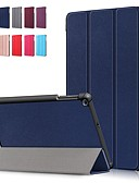 baratos Cases & Capas-Capinha Para Samsung Galaxy Tab S4 10.5 (2018) / Tab A2 10.5 (2018) T595 T590 / Samsung Tab S5e T720 10,5 Antichoque / Flip / Origami Capa Proteção Completa Sólido Rígida PU Leather