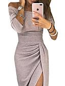 ราคาถูก Special Occasion Dresses-ชีท / คอลัมน์ ไหล่ตก ข้อเท้า เลื่อม แต่งตัว กับ เลื่อม / ผ่าหน้า โดย LAN TING Express