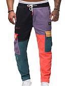 ราคาถูก กางเกงผู้ชาย-สำหรับผู้ชาย พื้นฐาน / Street Chic เพรียวบาง กางเกง Chinos กางเกง - ลายพิมพ์ / หลายสี สายรุ้ง M L XL