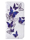 ราคาถูก เคสสำหรับโทรศัพท์มือถือ-Case สำหรับ Samsung Galaxy J6 (2018) / J6 Plus / J4 (2018) Wallet / Card Holder / Flip ตัวกระเป๋าเต็ม Butterfly Hard หนัง PU