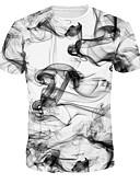 ราคาถูก เสื้อยืดและเสื้อกล้ามผู้ชาย-สำหรับผู้ชาย เสื้อเชิร์ต คอกลม เพรียวบาง ขาว