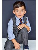 povoljno Kompletići za dječake-Dijete Dječaci Osnovni Jednobojni Kratkih rukava / Dugih rukava Regularna Normalne dužine Pamuk Komplet odjeće Sive boje / Dijete koje je tek prohodalo