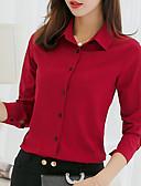 billige Skjorter til damer-Skjorte Dame - Ensfarget Lysegrønn