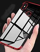 baratos Capinhas para Xiaomi-Capinha Para Xiaomi Xiaomi Pocophone F1 / Xiaomi Mi Play / Xiaomi Mi 8 Galvanizado / Ultra-Fina / Transparente Capa traseira Sólido Macia TPU / Xiaomi Mi 6
