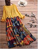 ราคาถูก เดรสผู้หญิง-เสื้อยาวถึงเข่าของผู้หญิงชุดสีแดงสีเหลืองสีฟ้า s m l xl