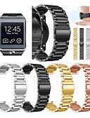 ราคาถูก วง Smartwatch-สายนาฬิกา สำหรับ Gear 2 R380 / Gear 2 Neo R381 / Gear Live Samsung Galaxy สายยางสำหรับเส้นกีฬา / หัวกลัดแบบคลาสสิก โลหะ / สแตนเลส สายห้อยข้อมือ