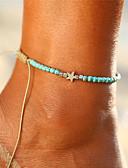 ราคาถูก ชุดว่ายน้ำและบิกินีผู้หญิง-สำหรับผู้หญิง สีน้ำเงิน Turquoise สร้อยข้อมือข้อเท้า เครื่องประดับเท้า ถัก Star ถูก ง่าย โบฮีเมียน Hotwife เรซิน สร้อยข้อเท้า เครื่องประดับ Turquoise สำหรับ ทุกวัน ฮอลิเดย์