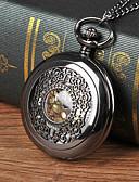 ราคาถูก นาฬิกาสำหรับผู้ชาย-สำหรับผู้ชาย นาฬิกาแบบพกพา นาฬิกาอิเล็กทรอนิกส์ (Quartz) ดำ แกะสลักกลวง นาฬิกาใส่ลำลอง เท่ห์ ระบบอนาล็อก ไม่เป็นทางการ Steampunk Skeleton Aristo - สีดำ