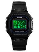 ราคาถูก นาฬิกาดิจิทัล-SKMEI สำหรับผู้ชาย นาฬิกาทหาร ดิจิตอล ยางทำจากซิลิคอน ดำ / ฟ้า / แดง 50 m Military นาฬิกาปลุก ปฏิทิน ดิจิตอล ภายนอก แฟชั่น - สีเขียว ฟ้า ดำ / ขาว หนึ่งปี อายุการใช้งานแบตเตอรี่