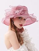 ราคาถูก หมวกสตรี-สำหรับผู้หญิง สีพื้น ลายดอกไม้ เส้นใยสังเคราะห์ ลูกไม้ ซึ่งทำงานอยู่ พื้นฐาน สไตล์น่ารัก-หมวกสาน ดวงอาทิตย์หมวก ทุกฤดู สีม่วง สีกากี ตะพุ่น