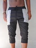 ราคาถูก กางเกงผู้ชาย-สำหรับผู้ชาย พื้นฐาน เพรียวบาง กางเกงขาสั้น กางเกง - สีพื้น สีเทา XL
