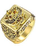 ราคาถูก กางเกงผู้ชาย-สำหรับผู้ชาย แหวน แหวนตรา 1pc สีทอง สีเงิน โลหะผสม Punk รัสเซีย ของขวัญ ทุกวัน เครื่องประดับ Sculpture ยอดครอบครัว
