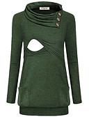 povoljno Majice-Majčinski Majica s rukavima Žene Jednobojni Kolaž Djetelina