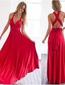 ราคาถูก Special Occasion Dresses-A-line V-Wire ลากพื้น เจอร์ซี่ แต่งตัว กับ โดย LAN TING Express
