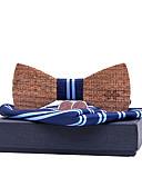 olcso Férfi nyakkendők és csokornyakkendők-Férfi Csíkos Alap - Csokornyakkendő
