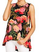ราคาถูก เสื้อยืดและเสื้อกล้ามผู้ชาย-สำหรับผู้หญิง เสื้อเชิร์ต ลวดลายดอกไม้ / ลายพิมพ์ ลายดอกไม้ สีน้ำเงิน / ฤดูใบไม้ผลิ / ฤดูร้อน / ตก