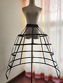 ราคาถูก ชุด-เจ้าสาว โลลิต้าแบบคลาสสิก 1950s เป็นชั้น หนึ่งชิ้น ชุดเดรส Petticoat กระโปรงผายก้น สำหรับผู้หญิง เด็กผู้หญิง ฝ้าย เครื่องแต่งกาย สีดำ / ขาว Vintage คอสเพลย์ งานแต่งงาน ปาร์ตี้ เจ้าหญิง