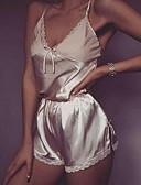 Χαμηλού Κόστους Σετ Εσώρουχα-Γυναικεία Δαντέλα Sexy Σετ Εσώρουχα Πυτζάμες Μονόχρωμο Ανθισμένο Ροζ Μπεζ Γκρίζο Τ M L