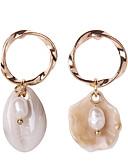 ราคาถูก กระโปรงผู้หญิง-สำหรับผู้หญิง Drop Earrings ต่างหู ต่างหูห้อย ที่ไม่ตรงกัน เปลือกหอย Puka Shell Stylish ธรรมชาติ Tropical เกาหลี โบโฮ ไข่มุก เปลือกหอย ต่างหู เครื่องประดับ สีทอง / สีเงิน สำหรับ ของขวัญ ทุกวัน Street