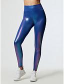 ราคาถูก กางเกงผู้หญิง-สำหรับผู้หญิง พื้นฐาน ที่ปกคลุมขา - สีพื้น, ลายพิมพ์ เอวสูง สีน้ำเงิน ขาว M L XL
