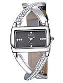 baratos Relógios de quartzo-Mulheres Relógios de Quartzo Relógio Quadrado Fashion Elegante Preta Couro PU Quartzo Branco Preto Relógio Casual 1 Pça. Analógico Um ano Ciclo de Vida da Bateria / Aço Inoxidável
