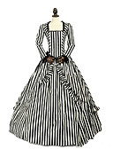 ราคาถูก ชุดโลลิต้า-เจ้าหญิง Rococo Victorian หนึ่งชิ้น ชุดเดรส Party Costume เครื่องแต่งกาย สำหรับผู้หญิง ลูกไม้ ฝ้าย เครื่องแต่งกาย สีดำและสีขาว Vintage คอสเพลย์ เสื้อผ้าที่สวมไปงานเต้นรำสวมหน้ากาก พรรคและเย็น