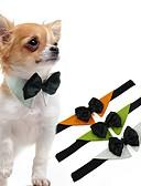 Χαμηλού Κόστους Καπέλα του μπέιζμπολ-Σκυλιά Γάτες Γραβάτα / Παπιγιόν Ρούχα για σκύλους Λευκό Πορτοκαλί Πράσινο Στολές Πάγκ Μπισόν Φριζέ Πεκινουά Ύφασμα Μονόχρωμο Τεμάχια Κεφαλής Φιόγκος Τ M L XL
