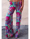 זול מכנסיים לנשים-בגדי ריקוד נשים בסיסי רזה צ'ינו מכנסיים - דפוס קשת M L XL