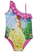 ราคาถูก คอสเพลย์ชุดว่ายน้ำ-ชุดว่ายน้ำ ชุดว่ายน้ำชุดคอสเพลย์ Beauty and the Beast สาวบี สำหรับเด็ก คอสเพลย์และคอสตูม คอสเพลย์ วันฮาโลวีน สีม่วง / สีบานเย็น การ์ตูน Printing วันคริสต์มาส วันฮาโลวีน เทศกาลคานาวาล