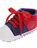 ราคาถูก เสื้อเชิ้ตผู้ชาย-เด็กผู้ชาย / เด็กผู้หญิง ความสะดวกสบาย / สำหรับการเดินครั้งแรก ผ้าใบ รองเท้าผ้าใบ เด็กวัยหัดเดิน (9m-4ys) สีเทา / แดง / ฟ้า ตก
