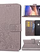 olcso Mobiltelefon tokok-Case Kompatibilitás Xiaomi Xiaomi Redmi Note 5 Pro / Xiaomi Redmi Note 6 / Xiaomi Redmi 6 Pro Kártyatartó / Állvánnyal / Mágneses Héjtok Virág Kemény PU bőr / Xiaomi Redmi Note 4X