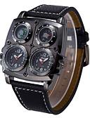 ราคาถูก นาฬิกาข้อมือหรูหรา-Oulm สำหรับผู้ชาย นาฬิกาทหาร นาฬิกาอิเล็กทรอนิกส์ (Quartz) หนัง ดำ / น้ำตาล เครื่องวัดอุณหภูมิ กันกระแทก ระบบอนาล็อก ความหรูหรา แฟชั่น - ขาว สีดำ สีน้ำตาล หนึ่งปี อายุการใช้งานแบตเตอรี่