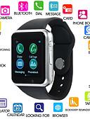 baratos Mini Vestidos-A1S Feminino Relógio inteligente Android Bluetooth Tela de toque Calorias Queimadas Chamadas com Mão Livre Radio FM Câmera Podômetro Aviso de Chamada Monitor de Atividade Monitor de Sono Lembrete