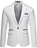 povoljno Muški sakoi i odijela-Muškarci Sako, Jednobojni / Color block Klasični rever Akril / Poliester Sive boje / Svjetloplav / Navy Plava