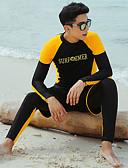 billiga Våtdräkter underställ och rashguards-JIAAO Herr Tätsittande dykardräkt Dykardräkter Håller värmen UV Solskydd Heltäckande Dragkedja fram 3 st - Simmning Dykning Vattensport Enfärgad Höst Vår Sommar / Elastisk