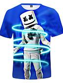 tanie Swetry i kardigany dla chłopców-Dzieci Dla chłopców Aktywny Nadruk Krótki rękaw Bawełna T-shirt Królewski błękit