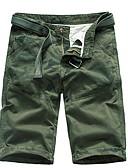 povoljno Muške duge i kratke hlače-Muškarci Osnovni Slim Kratke hlače Hlače - Jednobojni Vojska Green Plava Braon M L XL