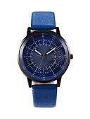 ราคาถูก นาฬิกาข้อมือสายหนัง-สำหรับผู้ชาย นาฬิกาตกแต่งข้อมือ นาฬิกาอิเล็กทรอนิกส์ (Quartz) หนัง ดำ / ฟ้า 30 m ปฏิทิน นาฬิกาใส่ลำลอง ระบบอนาล็อก ไม่เป็นทางการ แฟชั่น - สีเงิน ฟ้า ทอง / เงิน / ดำ หนึ่งปี อายุการใช้งานแบตเตอรี่
