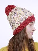 ราคาถูก หมวกสตรี-สำหรับผู้หญิง ลายบล็อคสี สังเคราะห์ ซึ่งทำงานอยู่ พื้นฐาน สไตล์น่ารัก-หมวกปีกกว้าง ตก ฤดูหนาว ส้ม ผ้าขนสัตว์สีธรรมชาติ สีเหลือง