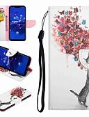 ราคาถูก เคสสำหรับโทรศัพท์มือถือ-Case สำหรับ Huawei Honor 9 / Honor 8 / Huawei Honor 7 Card Holder / with Stand / Flip ตัวกระเป๋าเต็ม Cat / Butterfly Hard หนัง PU