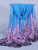ราคาถูก ผ้าคลุมไหล่-สำหรับผู้หญิง ลายดอกไม้ พื้นฐาน / สไตล์น่ารัก - ผ้าพันคอสี่เหลี่ยมผืนผ้า