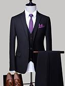 povoljno Smokinzi-Muškarci Veći konfekcijski brojevi odijela, Jednobojni Kragna košulje Poliester Svijetlosiva / Navy Plava / Svijetlo plava