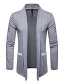 baratos Suéteres & Cardigans Masculinos-Homens Sólido Carregam Camisola Jumper Preto / Cinza Claro / Branco M / L / XL