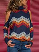 olcso Női szoknyák-Alap Női Blúz - Csíkos / Grafika, Nyomtatott Narancssárga